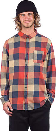 Quiksilver Motherfly Flannel Shirt burnt brick motherfly