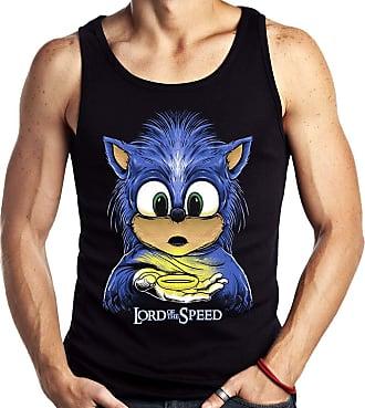 Dragon Store Camiseta Regata Geek Sonic dos Anéis Lord of Speed Game