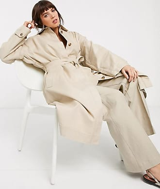 & Other Stories belted oversized mac in beige