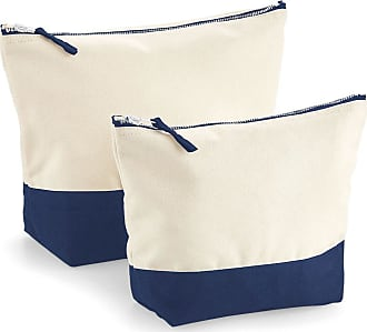 Westford Mill Dipped Base Canvas Accessory Bag (L) (Natural/Navy)