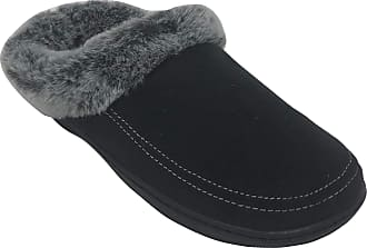 Dearfoams Womens Microsuede Memory Foam Clog Slipper Black Size: 11-12