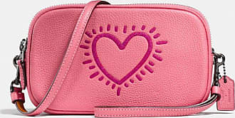 Coach X Keith Haring Crossbody Clutch in Pink
