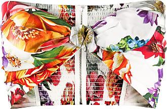 Dolce & Gabbana Blusa cropped floral com laço - Branco
