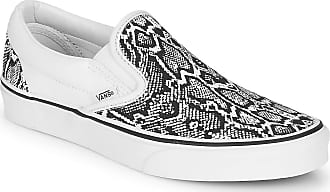 Vans Classic Slip-on Slip-ons Women White/Black - UK:4.5 - Slip-ons Shoes
