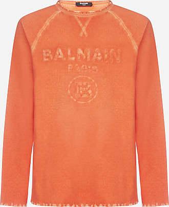 Balmain Logo distressed cotton sweatshirt - BALMAIN - man