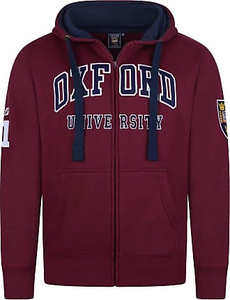 Oxford University Official Licensed Embroidered Hoodie Unisex Mens Womens Souvenir Gift Super Soft Full Zip Up + One Free T-Shirt (XXL, Burgundy)