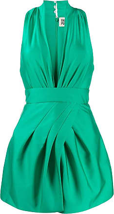 FAUSTO PUGLISI Vestido com gola V - Verde