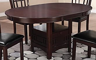 Coaster Lavon Dining Table with Storage Espresso