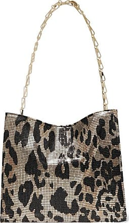Paco Rabanne Icon Leopard-print Chainmail Shoulder Bag - Gold