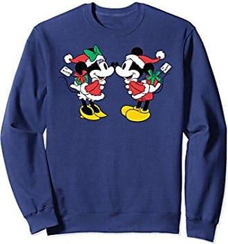 disney unisex disney mickey and minnie christmas sweatshirt medium navy - Disney Christmas Sweaters