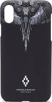 Marcelo Burlon Wings Iphone Xs Case - Mens - Black