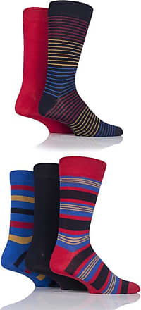 SockShop Mens 5 Pair SockShop Plain Bamboo Socks (7-11 Mens, Striped Bright)
