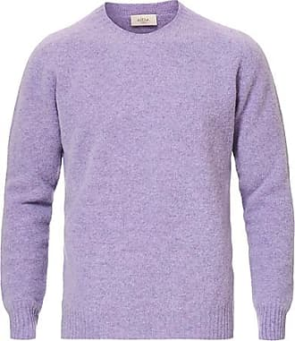 Altea Shetland Crew Neck Sweater Lavender