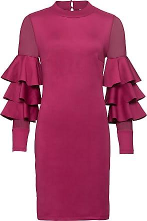 BODYFLIRT boutique Dam Volangklänning i stark rosa lång ärm - BODYFLIRT  boutique 112c800ea6ecb