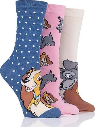 SockShop SOCKSHOP Ladies Disney The Lady and the Tramp Cotton Socks Pack of 3 Assorted 4-8