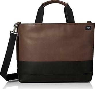 Jack Spade Mens Leather Dipped Coal Bag, Brown/black