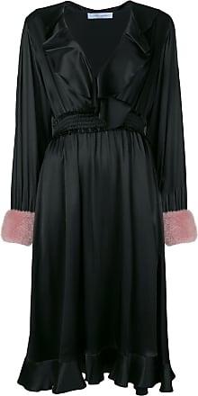 Blumarine Vestido com babado - Preto