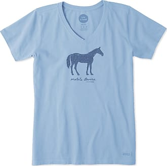 Life is good Womens Mobile Device Horse Crusher Vee XXXL Powder Blue