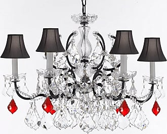Gallery T22-2768 6 Light 26 Wide Crystal Chandelier with Fabric