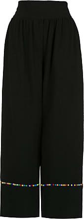 OLYMPIAH Inca pompom pantacourt trousers - Black