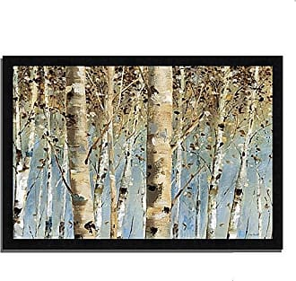 Tangletown Fine Art White Forest I Framed Art Blue