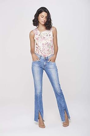 Damyller Calça Jeans Reta com Fenda na Barra Tam: 46 / Cor: BLUE