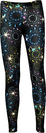 Insanity Astrology Horoscope Star Sign Zodiac Print Leggings (L/XL)