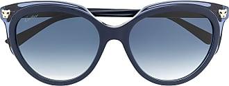 Cartier Óculos de sol quadrado oversized Panthere - Azul