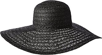 ále by Alessandra Womens Chantilly Lace Weave Toyo Floppy Hat, Black, One Size