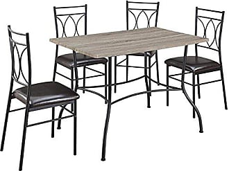Dorel Home Products Shelby 5-Pc Rustic Wood & Metal Dining Set, Rustic / Black