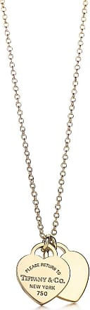 Tiffany & Co. Return to Tiffany mini double heart tag pendant in 18k gold