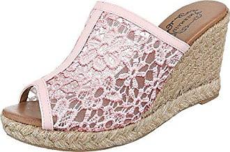 Schuhtraum Sandalen Damen Keilabsatz Wedge Sandaletten High Heels Plateau  Spitze ST610 (40, Rosa) fd434412b0