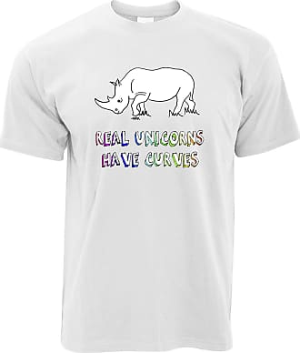 Tim And Ted Novelty T Shirt Real Unicorns Have Curves - (White/XXXXX-Large)