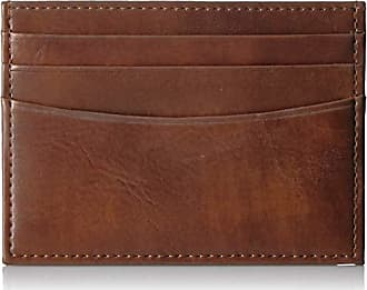 Amazon Essentials Mens RFID Blocking Slim Card Carrier Wallet, Brown, One Size