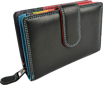 RFID Potected Leather Bi Fold Purse Golunski New in Gift Box  Navy Berry or Teal