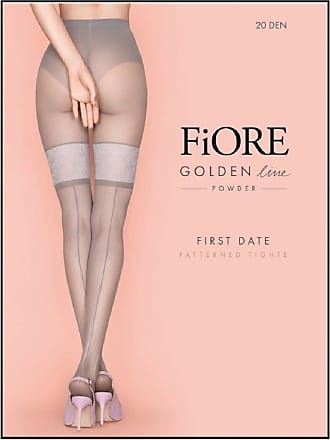 Fiore First Date Seamed Faux Hold-up Tights large (57-510 170-178cm, hip 42-48 106-122cm) black