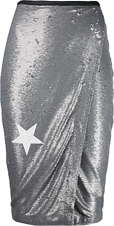 8pm sequin wrap pencil skirt - Grey