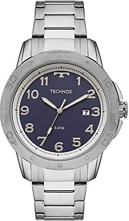 Technos Relógio Masculino Technos Analógico Com Data 2315ACI/1A Prata