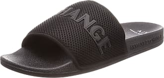 A X Armani Exchange Sandals Slippers Men Rubber and Black Fabric. cod. XUP001 XV087 Black Size: 9 UK
