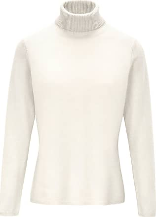 include Roll-neck jumper in pure new wool and cashmere include white