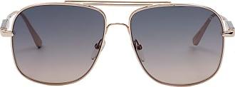 Tom Ford Eyewear Óculos de Sol Quadrado Dourado - Mulher - 60 US