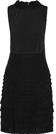 Giambattista Valli Giambattista Valli Woman Tiered Gathered Stretch-knit Dress Black Size 40
