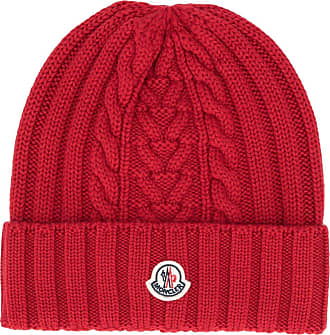 Moncler Gorro com patch de logo - Vermelho