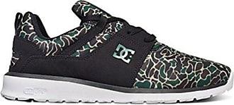 DC Shoes Mens Shoes Heathrow Se - Low Shoes - Unisex - US 4 - Black Black Camouflage US 4 / UK 3 / EU 36