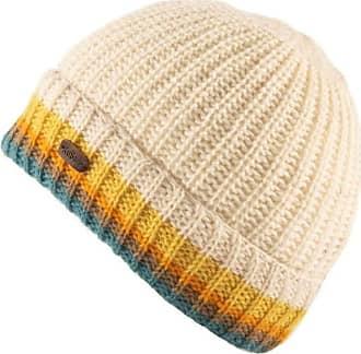 KuSan 100% Wool Turn Up Hat PK1926 (Yellow Stripe)