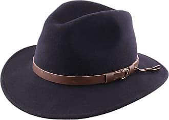 79349fbb052 Classic Italy Fedora Hat Wool Felt Packable Men Classique Traveller - Size  60 cm - bleu