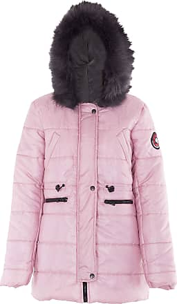 Noroze Womens Jacket Ladies Padded Quilted Parka Coat (L, Baby Pink)