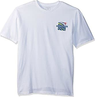 Quiksilver Mens Tropic Eruption TEE Shirt, White, S