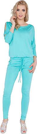 FUTURO FASHION Womens Jumpsuit with Pockets Boat Neck Open 3/4 Sleeve Playsuit Sizes 8-14 1081 Aqua