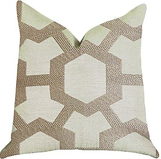 Plutus Brands Linked Charisma Double Sided Luxury Throw Pillow 22 x 22 Brown/Beige